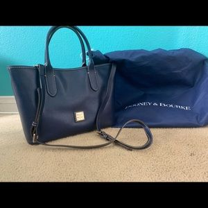 Dooney and Bourke Blue Leather Bag